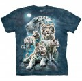 Night Tiger Collage - tygrysy - koszulka unisex The Mountain
