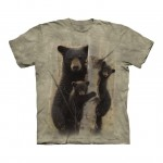 Mama Bear and Cubs - misie - koszulka unisex The Mountain