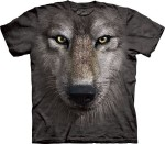 Wolf Face - wilk - koszulka unisex The Mountain