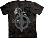 Celtic Cross Dragon - smok - koszulka unisex The Mountain Roz. S