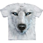 White Wolf Face - wilk - koszulka unisex The Mountain