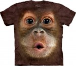 Big Face Baby Orangutan - orangutan - koszulka unisex The Mountain