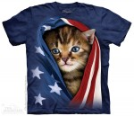 Patriotic Kitten - kot - koszulka unisex The Mountain