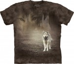 Grey Wolf Portrait - wilk - koszulka unisex The Mountain