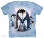 Penguin Heart - pingwiny - koszulka unisex The Mountain