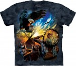 Eagle Prayer - indiańska - koszulka unisex The Mountain