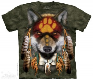 Native Wolf Spirit - wilk - koszulka unisex The Mountain