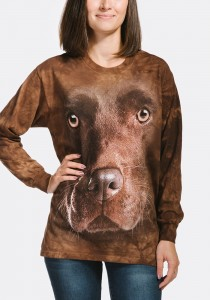 Chocolate Lab Face - T-shirt z długim rękawem The Mountain