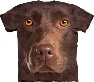 Chocolate Lab Face - labrador - koszulka unisex The Mountain