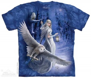 Midnight Messenger - sowa - Anne Stokes - koszulka unisex The Mountain