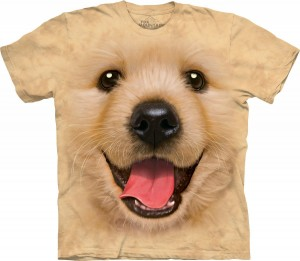 Big Face Golden Retriever - koszulka unisex The Mountain