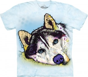 Russo Siberian Husky -  pies - koszulka unisex The Mountain