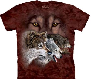 Find 9 Wolves - wilki - T-shirt unisex The Mountain