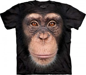 Chimp Face - szympans - koszulka unisex The Mountain
