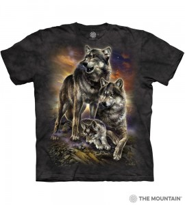 Wolf Family Sunrise - wilki - koszulka unisex The Mountain