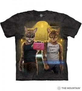 Cat Fight - koty - koszulka unisex The Mountain
