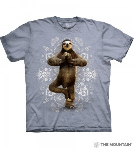 Namaste Sloth - leniwiec - koszulka unisex The Mountain
