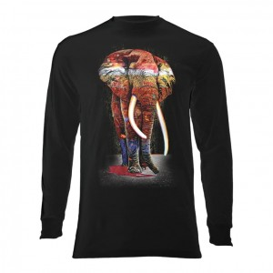 Painted Elephant - T-shirt z długim rękawem The Mountain