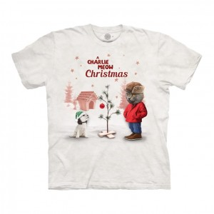 Charlie Meow Christmas - kot - koszulka unisex The Mountain