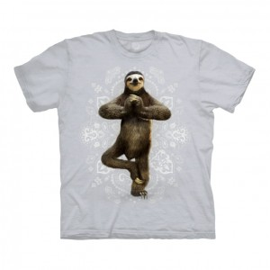 Namaste Sloth - koszulka unisex The Mountain