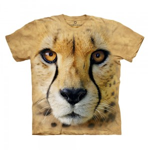 Big Face Cheetah - gepard - koszulka unisex The Mountain OL, Smithsonian