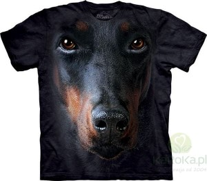 Doberman Face - koszulka unisex The Mountain (Rozmiar 4XL)