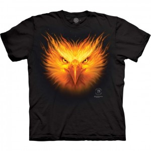 Firebird - ognisty ptak - Anne Stokes - koszulka unisex The Mountain
