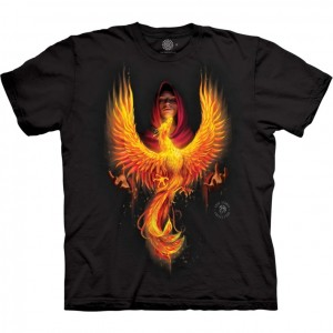 Phoenix Rising - smok - Anne Stokes - koszulka unisex The Mountain