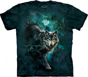 Night Wolves Collage - wilk - koszulka unisex The Mountain