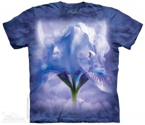 Iris in the Moonlight - kwiaty - koszulka unisex The Mountain