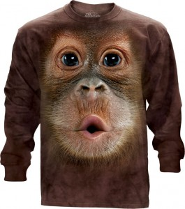 Big Face Baby Orangutan - T-shirt z długim rękawem The Mountain