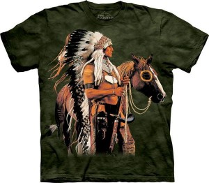 Painted & Proud - Indianin - koszulka unisex The Mountain