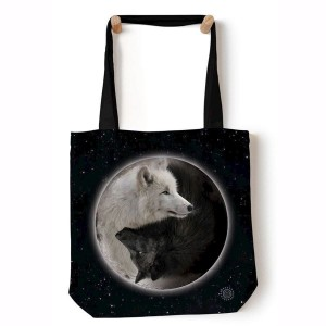 Yin Yang Wolves - torba shopper The Mountain
