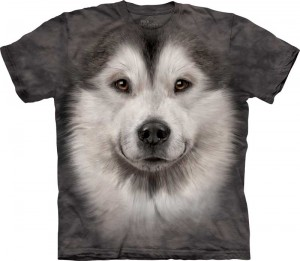 Alaskan Malamute Face - koszulka unisex The Mountain