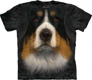 Bernese Mountain Dog Face - berneńczyk - koszulka unisex The Mountain