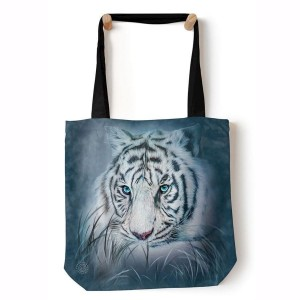 Thoughtful White Tiger - torba shopper The Mountain