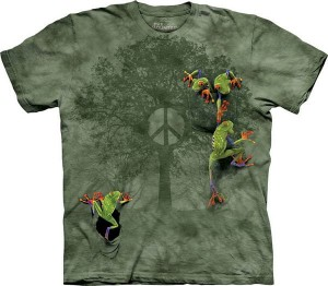 Peace Tree Frog - żaby - koszulka unisex The Mountain