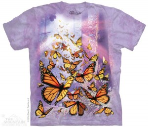 Monarch Butterflies - motyle - koszulka unisex The Mountain