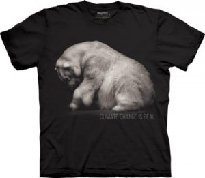 Polar Bear Climate Change Is Real - miś polarny - koszulka unisex The Mountain