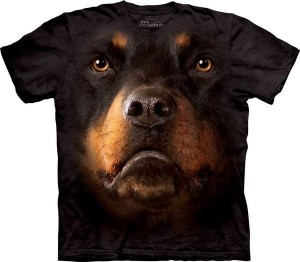 Rottweiler Face - koszulka unisex The Mountain
