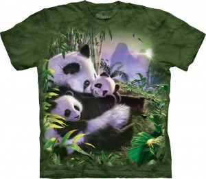 Panda Cuddles - pandy - koszulka unisex The Mountain