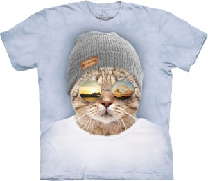 Cool Hipster Cat - kot - koszulka unisex The Mountain