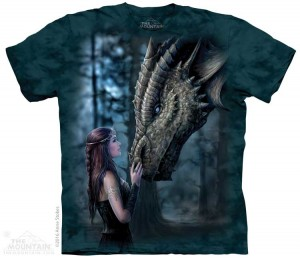 Once Upon a Time - smok - Anne Stokes - koszulka unisex The Mountain