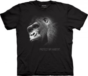 Gorilla Protect My Habitat - goryl - koszulka unisex The Mountain