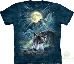 Wolf Night Symphony - wilk - koszulka unisex The Mountain (Rozmiar 4XL)