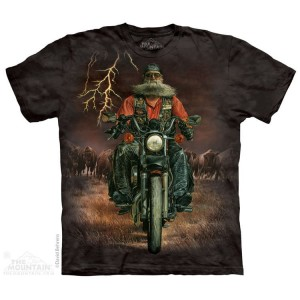 Buffalo Thunder - motocyklista - koszulka unisex The Mountain