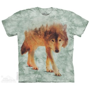 Forest Wolf - wilk - koszulka unisex The Mountain