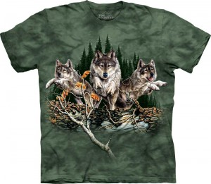 Find 12 Wolves - wilki - T-shirt unisex The Mountain