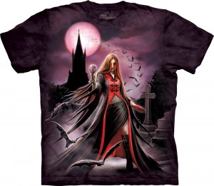 Blood Moon - wampir - Anne Stokes - koszulka unisex The Mountain