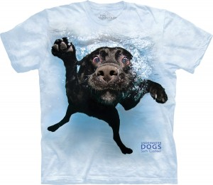 Underwater Dog Duchess - labrador pod wodą - koszulka unisex The Mountain